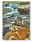 Sandstone Falls In The New River Spiral Notebook
