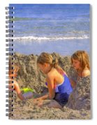 Sandy Fingers Sandy Toes Spiral Notebook