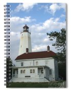 Sandy Hook Lighthouse And Building Spiral Notebook