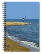 Sandy Point Fisherman Spiral Notebook