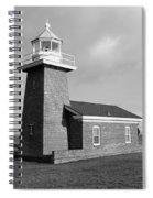 Santa Cruz Lighthouse - Black And White Spiral Notebook