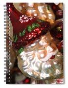 Santa Glass Ornament Spiral Notebook