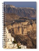 Santorini Spiral Notebook