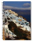 Santorini Cliff View Spiral Notebook