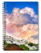 Santorini Sunrise Spiral Notebook
