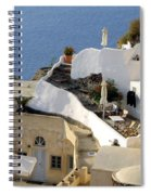 Santorini Terrace Spiral Notebook