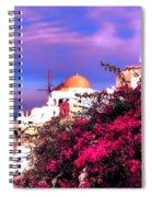 Santorini Spiral Notebook