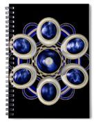 Sapphire And Gold Brooch Spiral Notebook