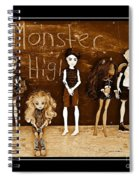 Sarah's Monster High Collection Sepia Spiral Notebook