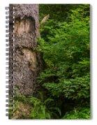 Sasquatch Rubbing Tree Spiral Notebook