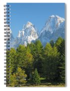 Sasso Lungo Group In The Dolomites Of Italy Spiral Notebook