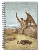 Satan Finding Serpent, By Dore Spiral Notebook