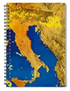 Satellite Image Of Italy Spiral Notebook