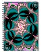 Satin Flowers And Butterflies Fractal 122 Spiral Notebook
