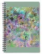 Satin Flowers Spiral Notebook