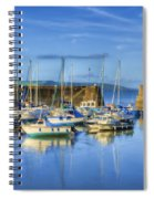 Saundersfoot Boats Painted Spiral Notebook