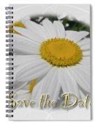 Save The Date Greeting Card - White Daisy Wildflower Spiral Notebook