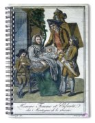 Savoyard Family, C1797 Spiral Notebook