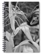 Scarecrow In The Corn Black And White Spiral Notebook