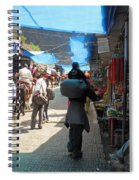 Scene At The Climbing Path Leading To The Vaishno Devi Shrine In Jammu And Kashmir State In India Spiral Notebook