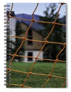 Scene Through A Volley Ball Court 2 Spiral Notebook