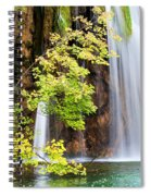 Scenic Waterfall In Autumn Spiral Notebook