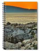 Schoodic Sunset Spiral Notebook