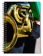 School Band Horn Spiral Notebook