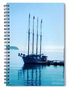 Schooner At Dock Bar Harbor Me Spiral Notebook