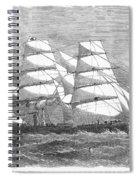 Screw Steamship, 1864 Spiral Notebook