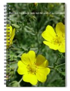 Scriptue And Picture Isaiah 40 8 Spiral Notebook