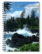 Scripture And Picture Matthew 8 27 Spiral Notebook