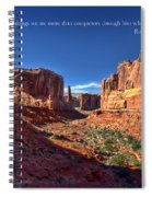 Scripture And Picture Romans 8 37  Spiral Notebook
