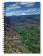 Scriture And Picture Isaiah 41 18 Spiral Notebook