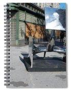 Sculptures On The Corner Spiral Notebook