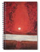 Sea And Moon Spiral Notebook