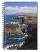 Sea Cliffs And Coastline Near Erris Spiral Notebook