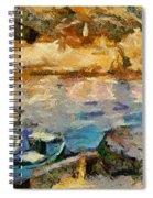 Sea Front On Mediterranean Sea Spiral Notebook