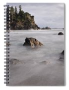 Sea Rocks And Surf Spiral Notebook