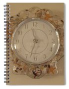 Sea Shells Time Spiral Notebook