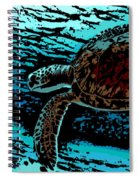 Sea Turtle Swimming Spiral Notebook