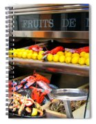 Seafood Market In Nice Spiral Notebook