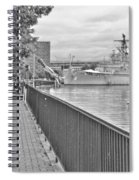 Seagull At The Naval And Military Park Spiral Notebook