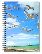 Seagulls At Worthing Sussex Spiral Notebook