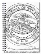 Seal: Attorney General Spiral Notebook