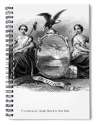 Seal Of New York, 1870 Spiral Notebook