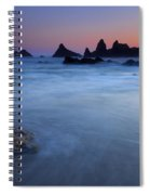 Seal Rock Dusk Spiral Notebook