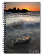 Seal Rock Sunset Spiral Notebook