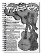 Sears Ad - Guitars 1902 Spiral Notebook