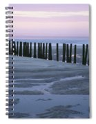 Seascape At Dusk With Pillars In Spiral Notebook